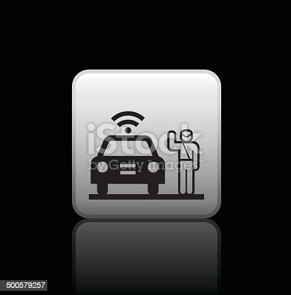 istock traffic police button icon 500579257
