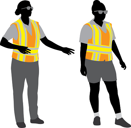 Traffic Police Silhouettes