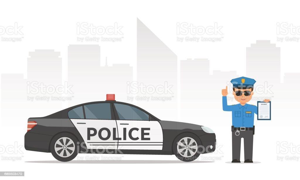 Vetores De Area De Exploracao Transferencia Policial De Transito