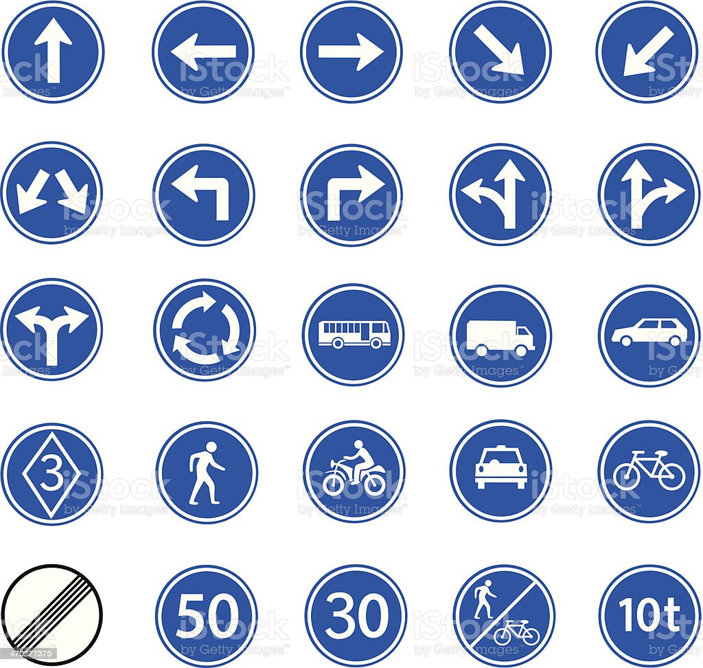 traffic regulatory sign vector art illustration