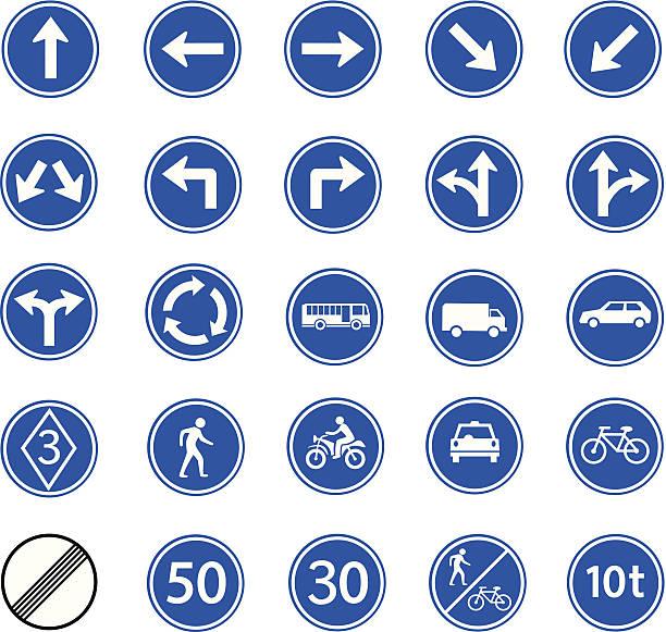 illustrations, cliparts, dessins animés et icônes de panneau de signalisation de la réglementation - rond point