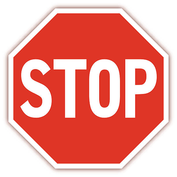 Traffic road sign - VECTOR Traffic road sign vector illustration. stop stock illustrations