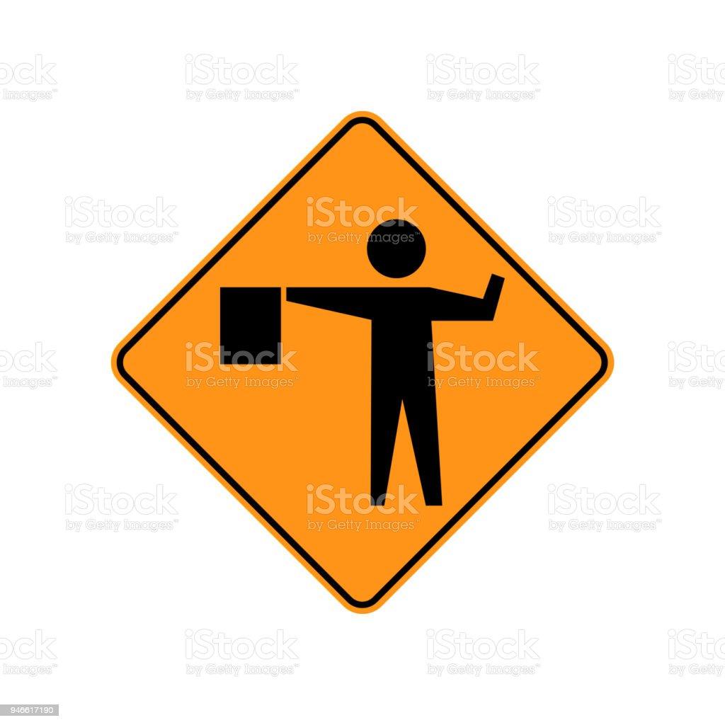 Señales de tráfico de tráfico de Estados Unidos. un señalador se coloca por delante a control usuario del camino. Ilustración de vector - ilustración de arte vectorial