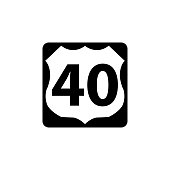 USA traffic road signs. U.S. route sign. vector illustration