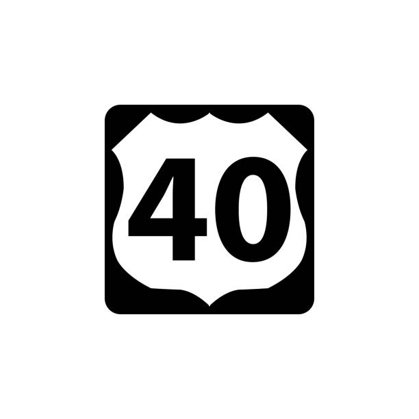 USA traffic road signs. U.S. route sign. vector illustration USA traffic road signs. U.S. route sign. vector illustration highway stock illustrations