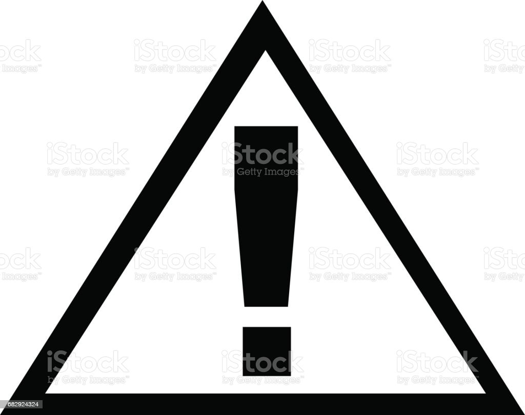 traffic sign / exclamation sign royalty-free traffic sign exclamation sign stock vector art & more images of alarm