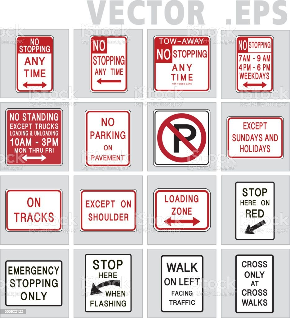 Traffic sign road. Vector graphic. vector art illustration