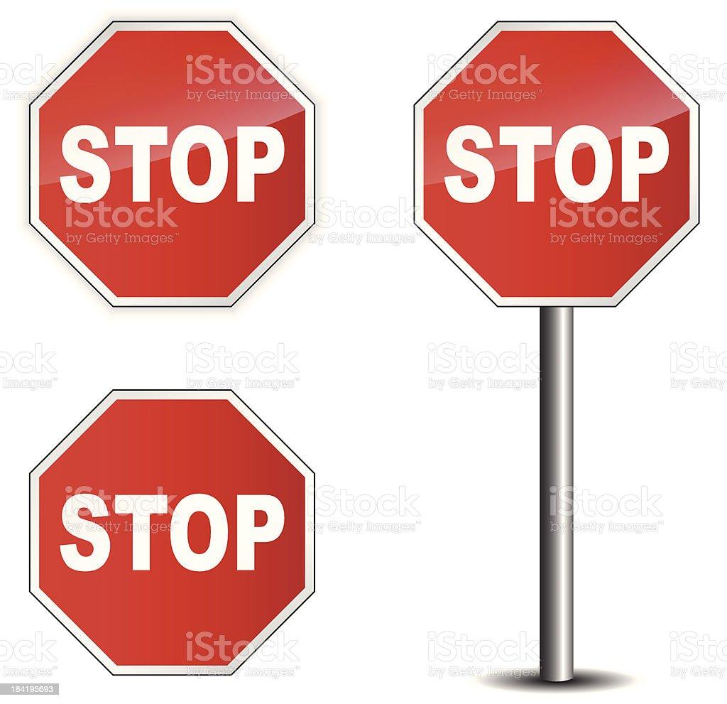 Traffic sign stop vector art illustration
