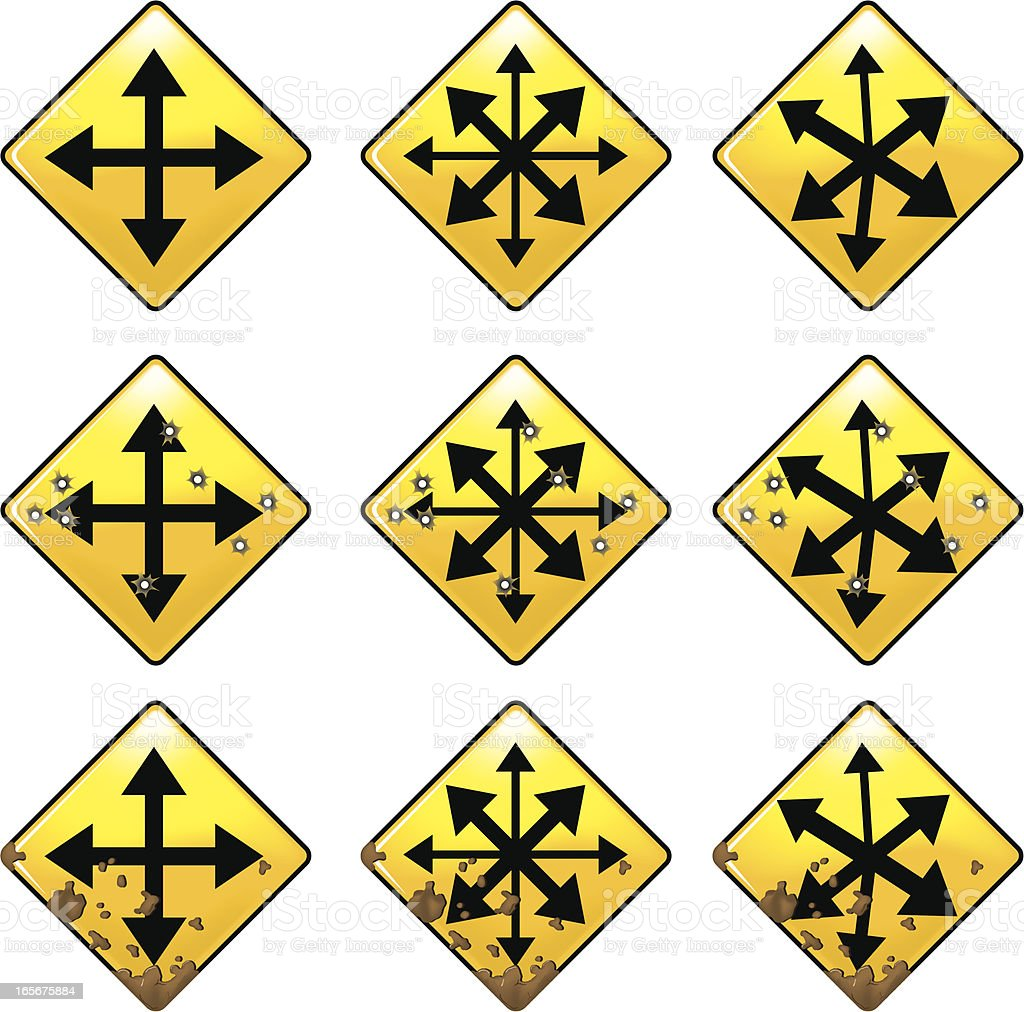 Traffic sign royalty-free stock vector art