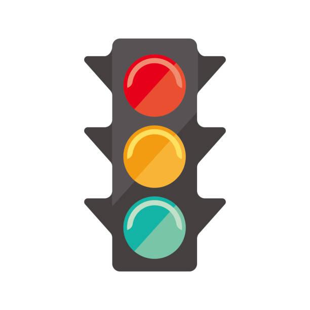 traffic signal icon vector art illustration
