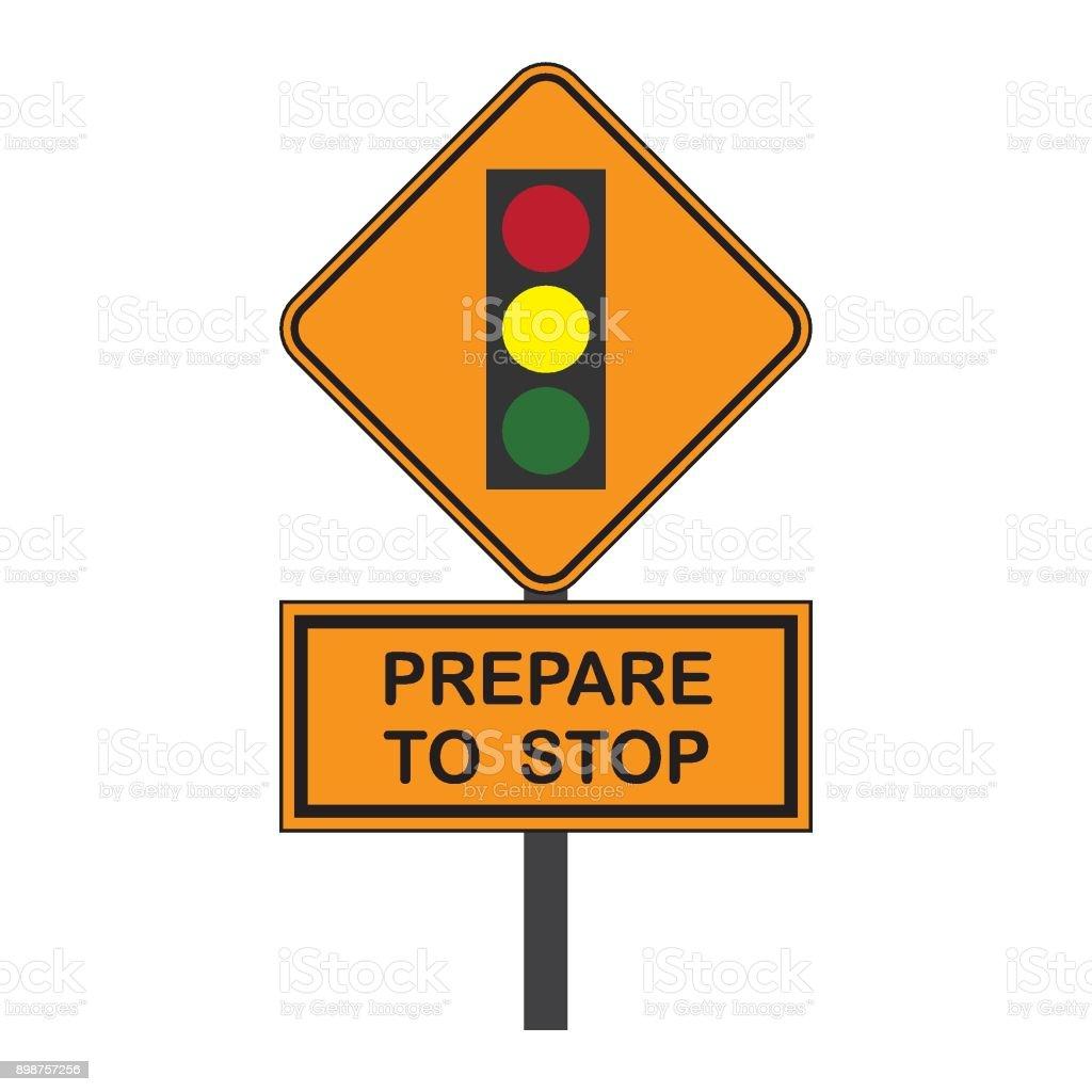 Traffic Signal Symbol Sign Stop Ahead Signs Traffic Light ...