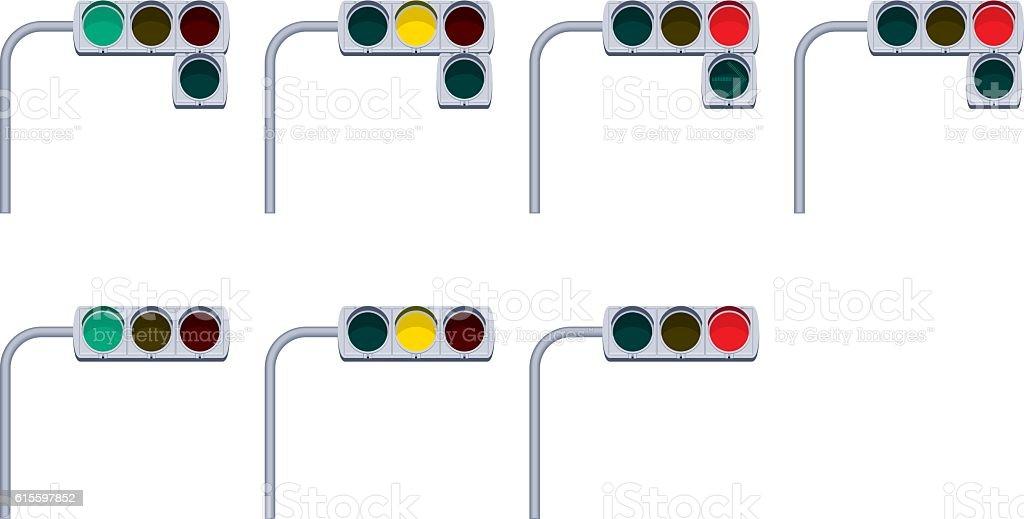 Traffic signals vector art illustration