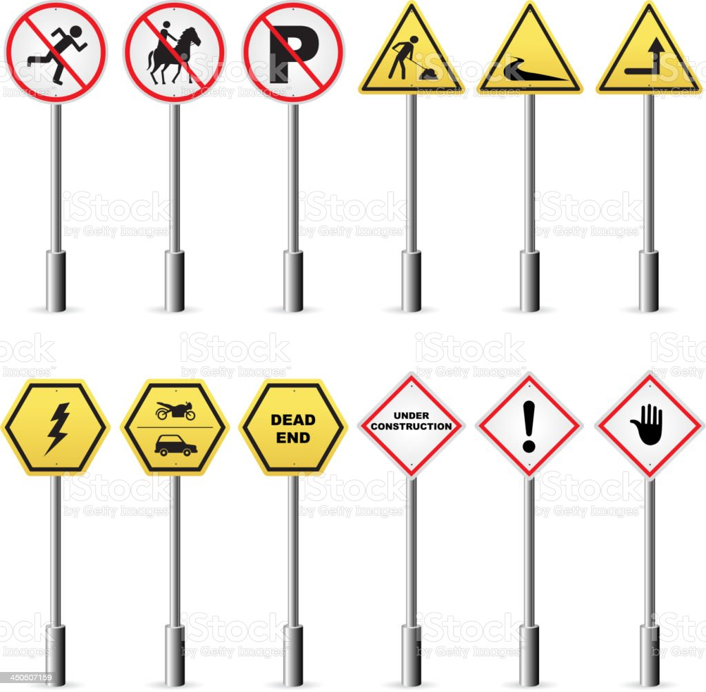 traffic signpost stock vector art more images of backgrounds