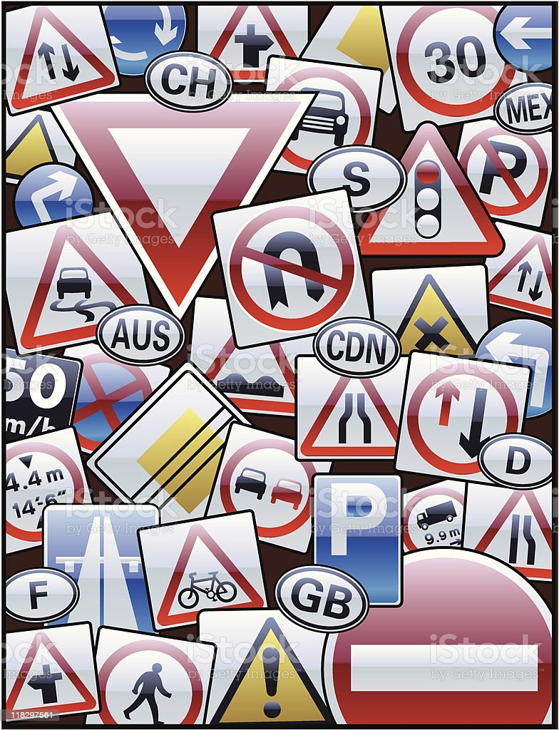 traffic signs royalty-free traffic signs stock vector art & more images of color image