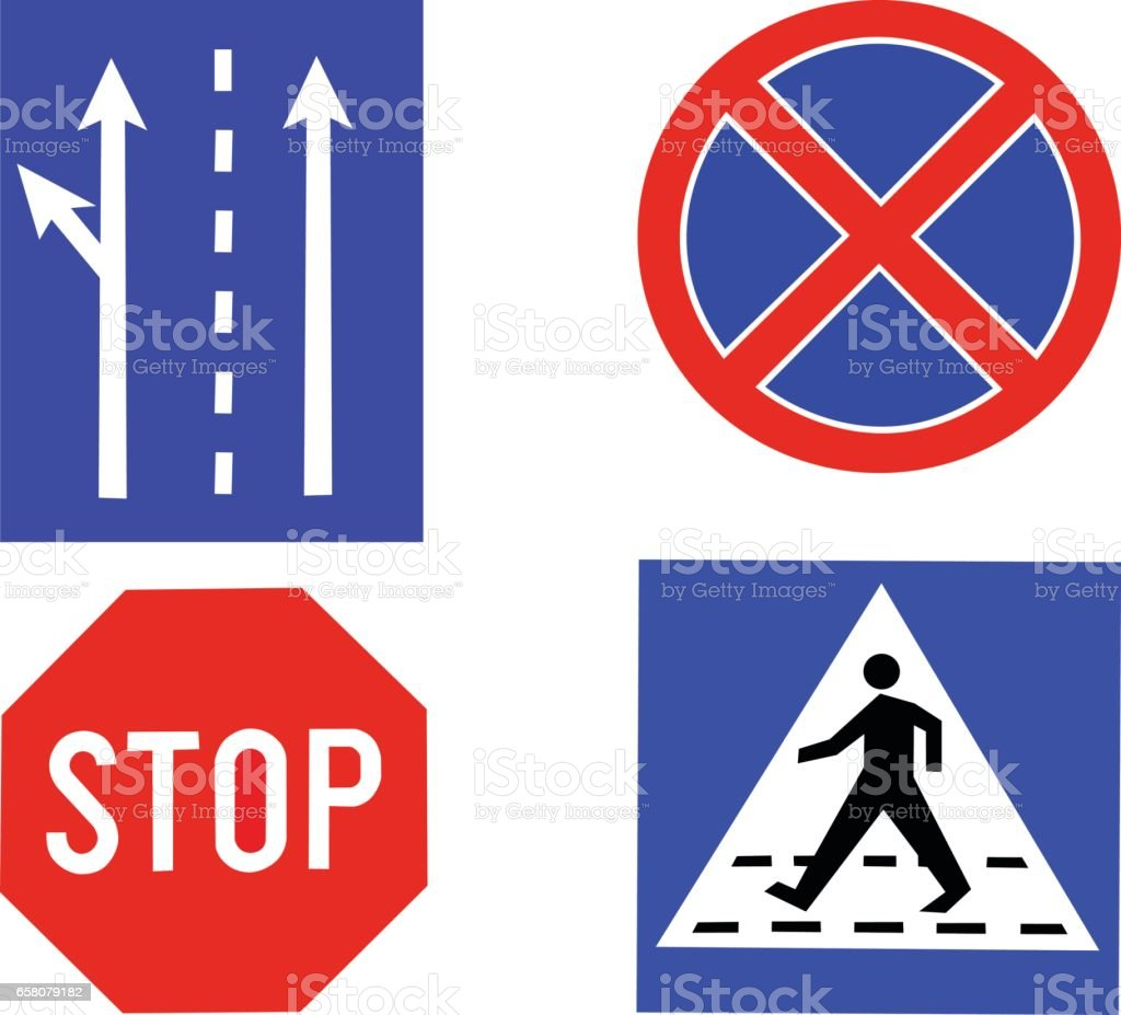 Traffic signs royalty-free traffic signs stock vector art & more images of horizontal