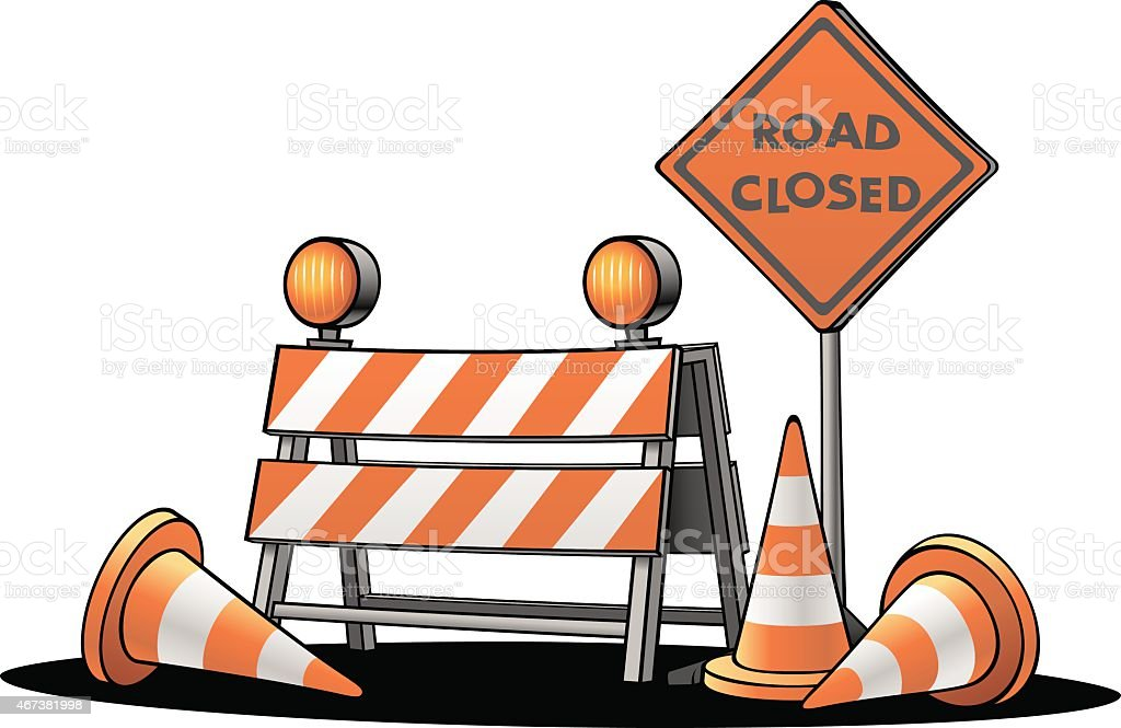 Traffic Warning Signs vector art illustration