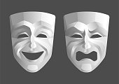 Tragicomic Theater Masks