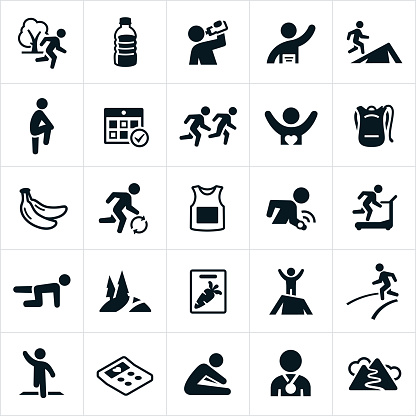 Trail And Road Running Icons