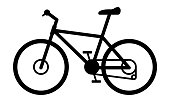 Nice and sharp vector illustration of of a mountain trail road style bicycle isolated for easy editing.