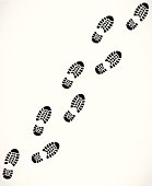 Trail od a sport shoes prints vector