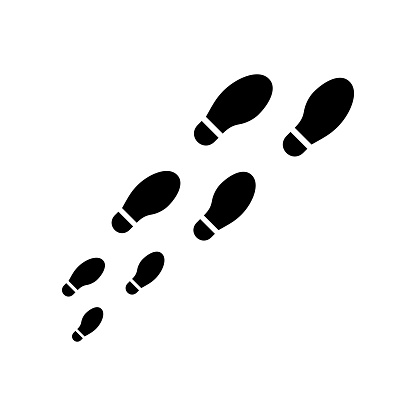 Trail shoes. Foot print vector icon isolated. Vector illustration EPS 10