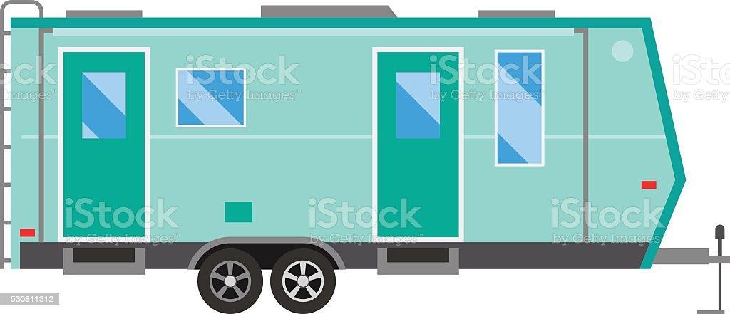 Trailer house vector illustration vector art illustration