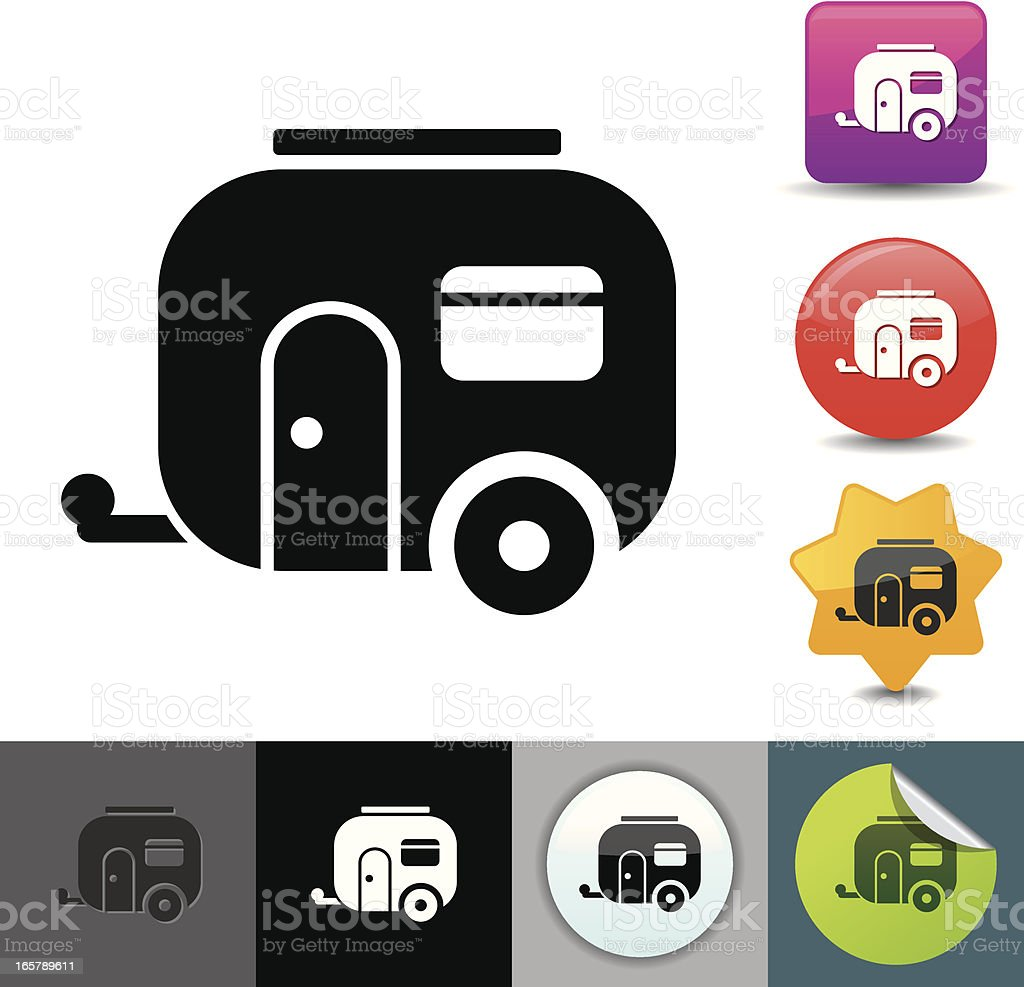 Trailer icon | solicosi series royalty-free stock vector art