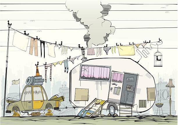 campingplatz mann - zigeunerleben stock-grafiken, -clipart, -cartoons und -symbole