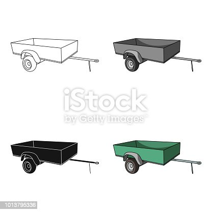 istock Trailer with sides for the car.Car single icon in cartoon style vector symbol stock illustration web. 1013795336