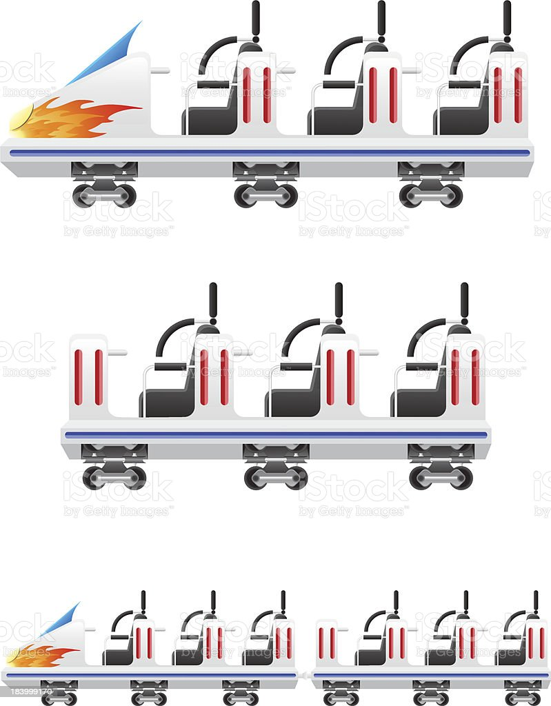 trailers for roller coasters vector illustration royalty-free trailers for roller coasters vector illustration stock vector art & more images of adventure