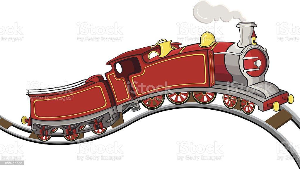 Train 1854 from UK royalty-free stock vector art