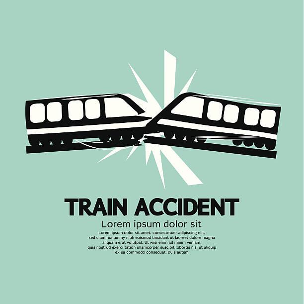 bildbanksillustrationer, clip art samt tecknat material och ikoner med train accident graphic vector illustration - derail
