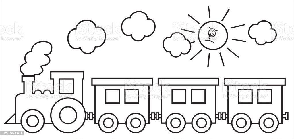 Tren Ve Güneş Stok Vektör Sanatı Bacanin Daha Fazla Görseli