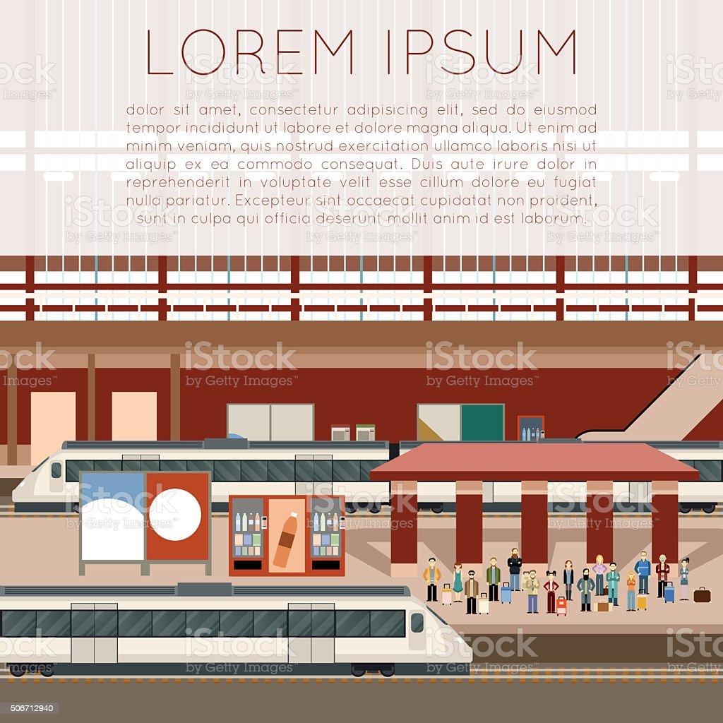 大きな鉄道駅 - イラストレーションのベクターアート素材や画像を多数ご