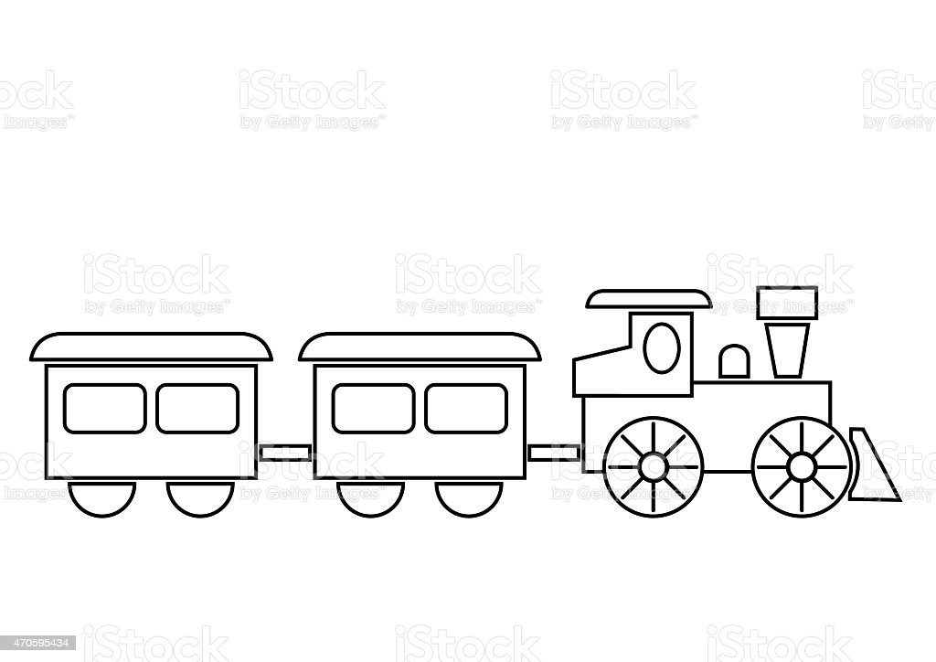 Train Coloring Book Stock Vector Art & More Images of 2015 470595434 ...