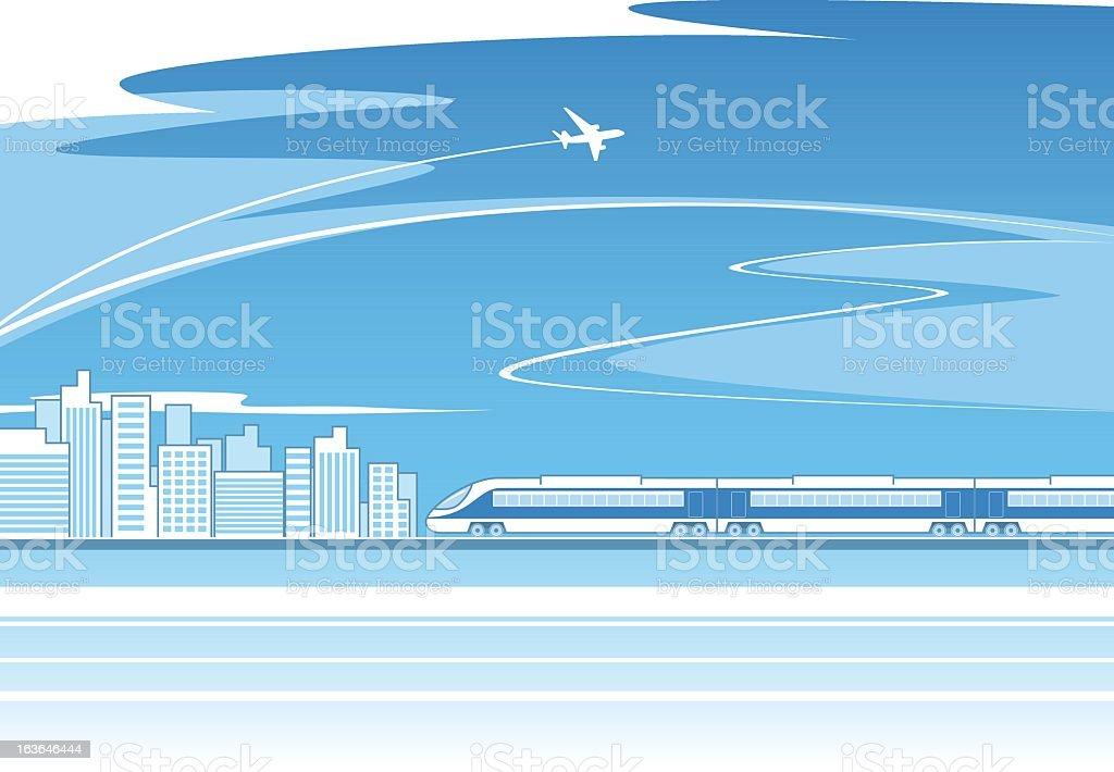 Train concept vector art illustration