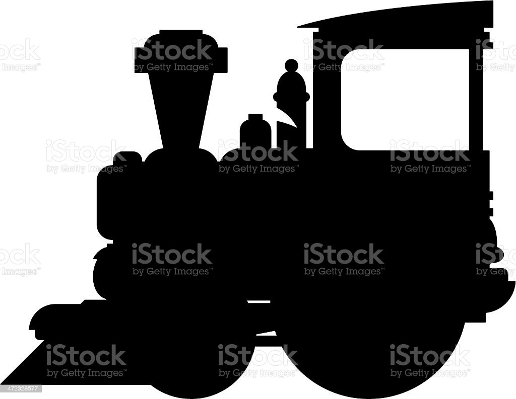Train Engine Silhouette Stock Illustration Download Image Now Istock