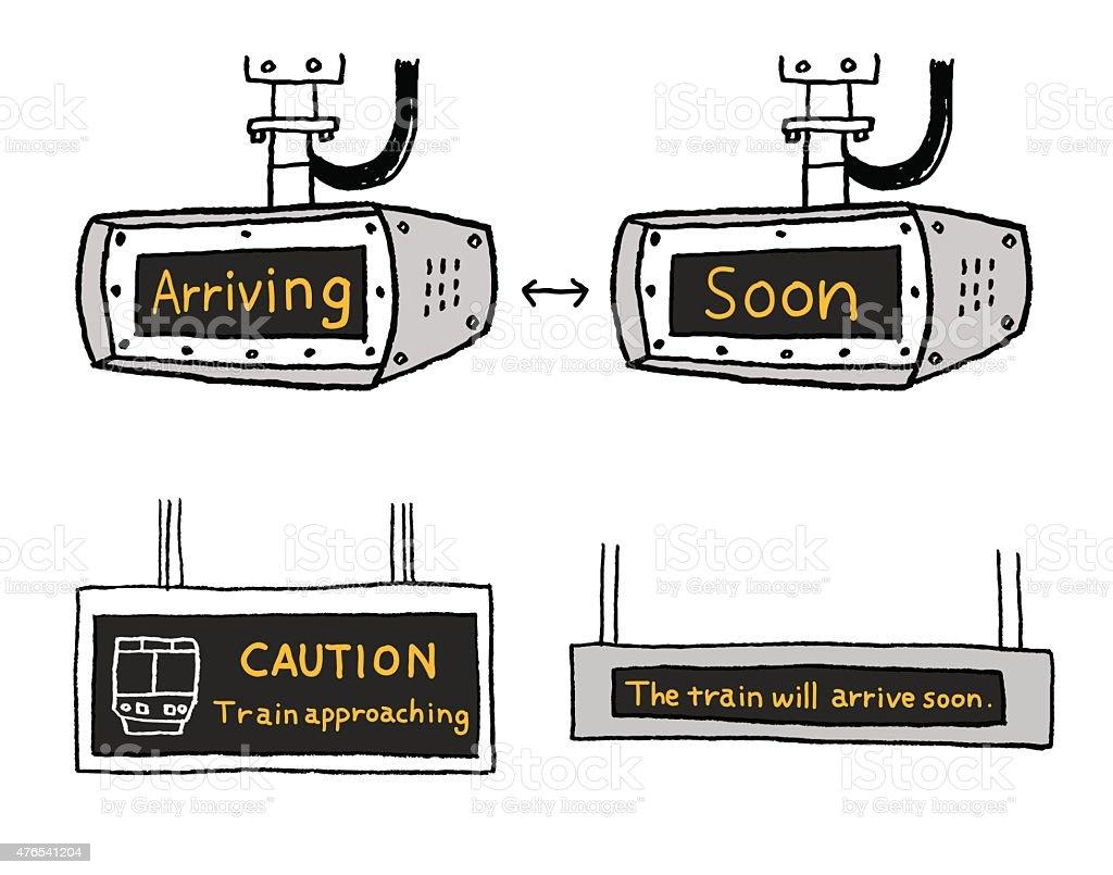 Train Guide plate vector art illustration