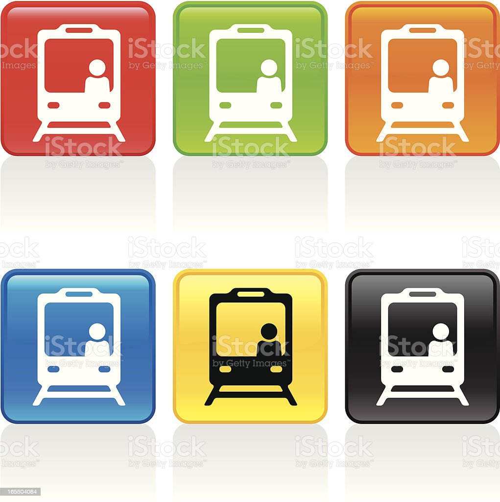 Train Icon - Front View royalty-free stock vector art