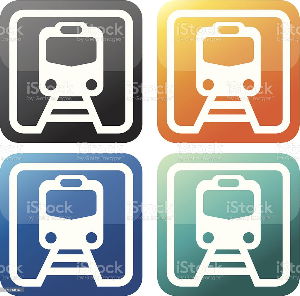train icon set royalty-free stock vector art