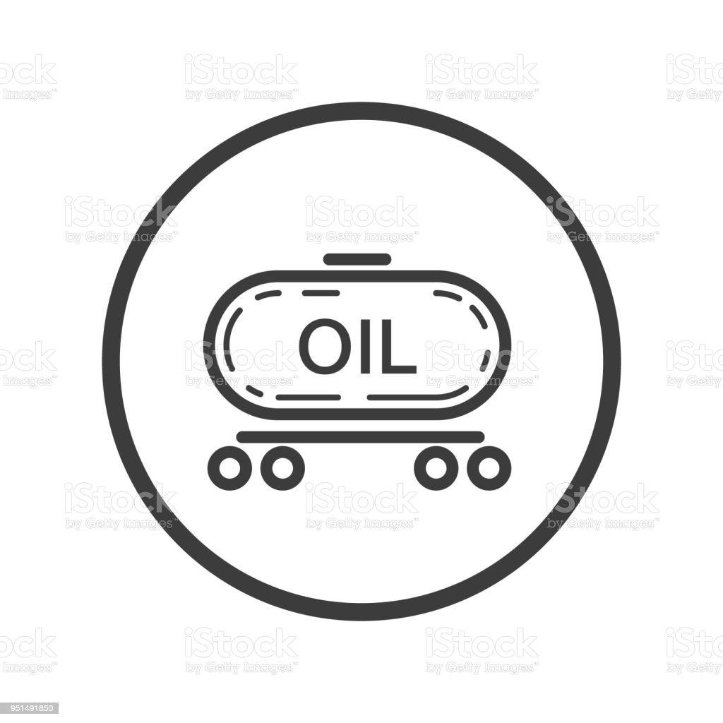 Zugsymbol Mit Öl In Den Runden Rahmen Stock Vektor Art und mehr ...