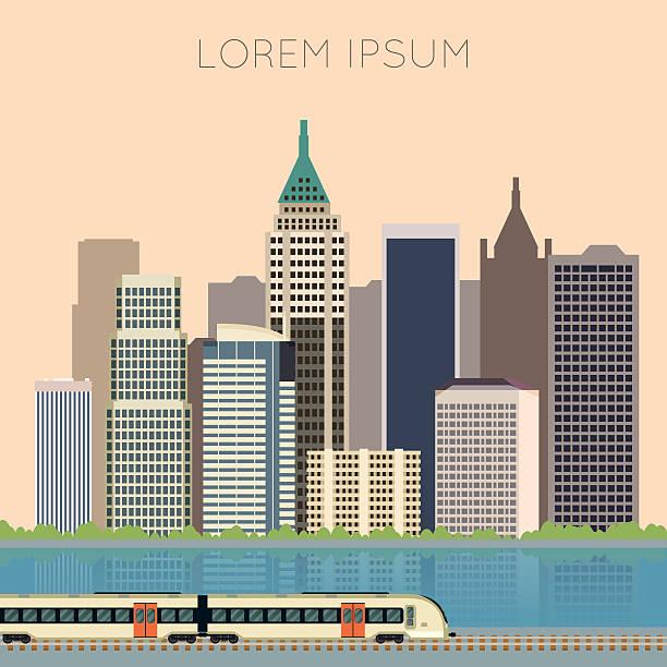 illustrazioni stock, clip art, cartoni animati e icone di tendenza di allenarsi in città banner - subway