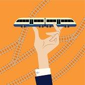 Train in Hand.