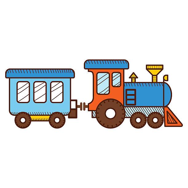 ilustrações, clipart, desenhos animados e ícones de trem isolado no fundo branco. ilustração vetorial - ícones de festas e estações