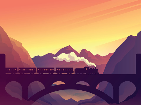 Train silhouette stock illustrations