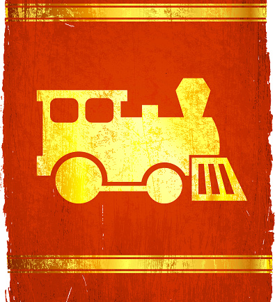 Train on royalty free vector Background