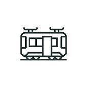 istock Train, Passenger, Locomotive Line Icon 1321672320