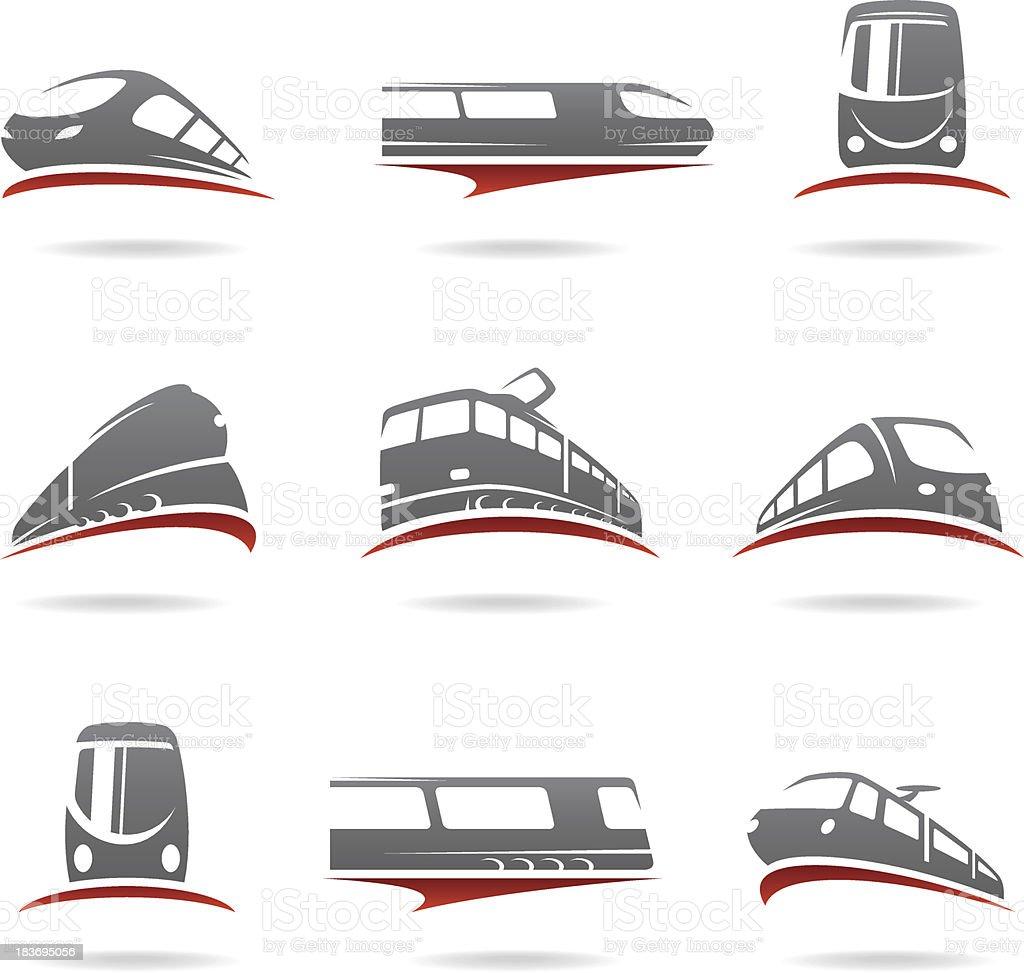 Train set. Vector vector art illustration