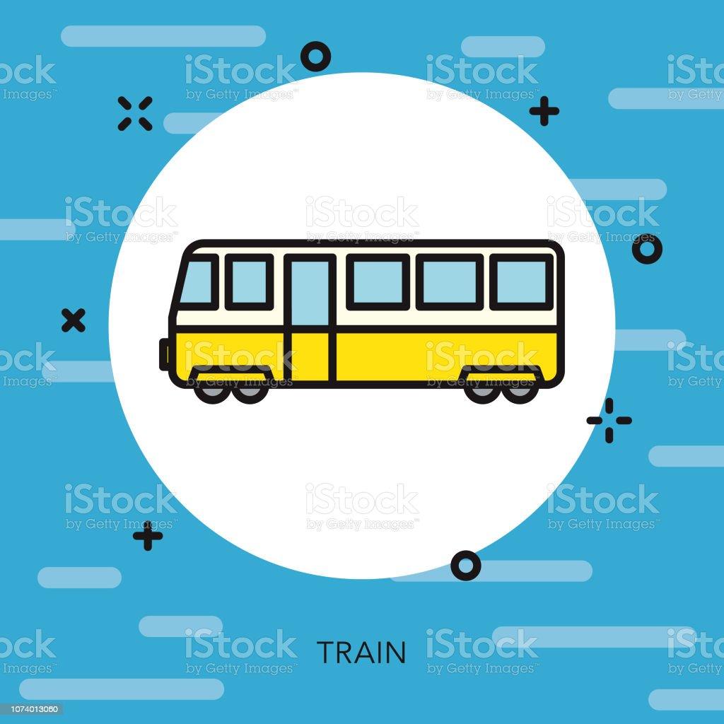 鉄道の細い線の交通機関のアイコン ベクターアートイラスト