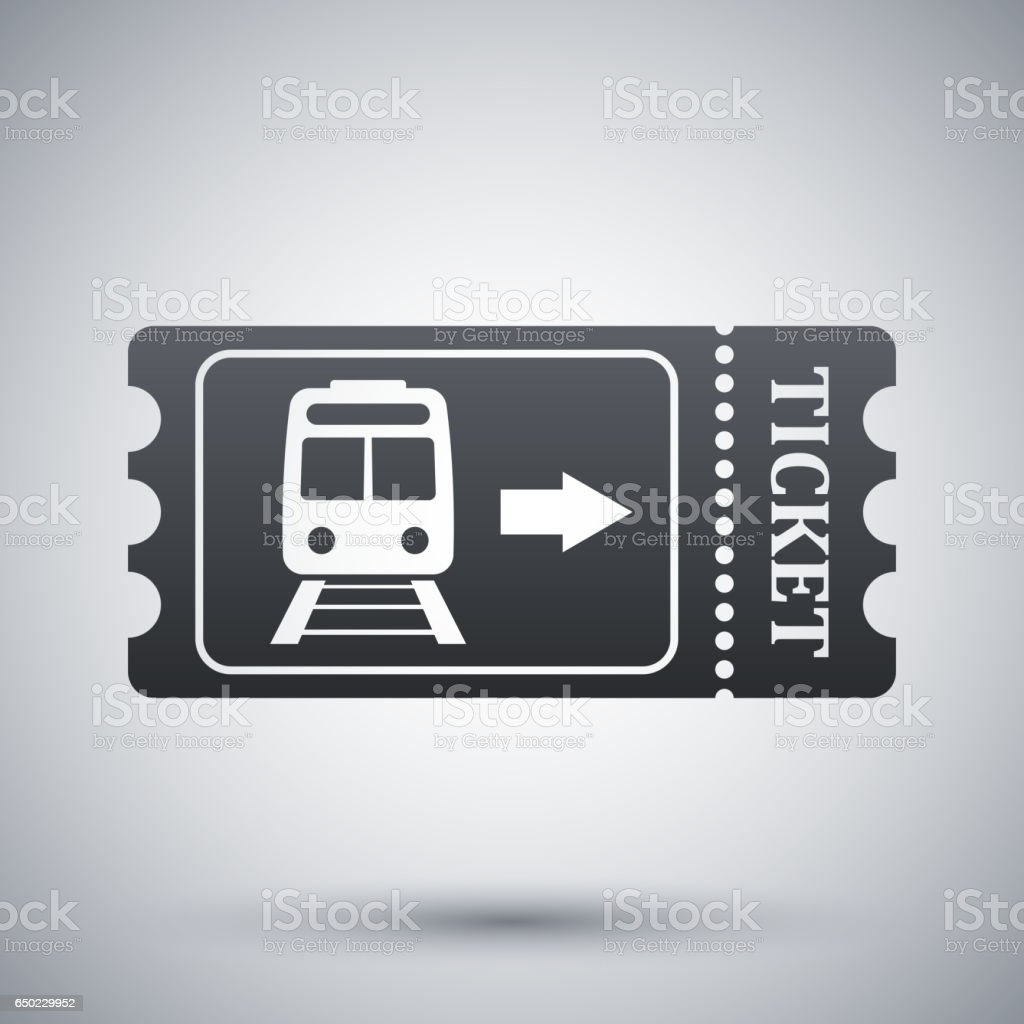 Zug ticket-Symbol-VEKTOR – Vektorgrafik